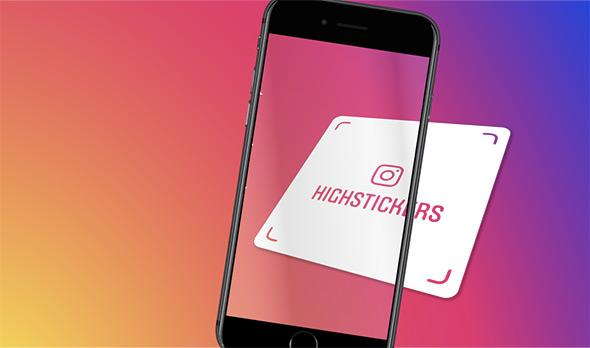 Stickers Nametag personnalisé Instagram