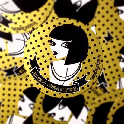Stickers sérigraphie or doré