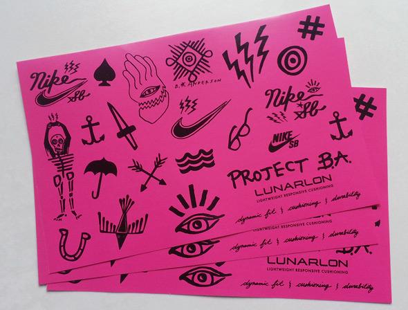 Planche de stickers personnalisés Nike SB