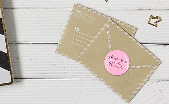 stickers mariage pour enveloppes
