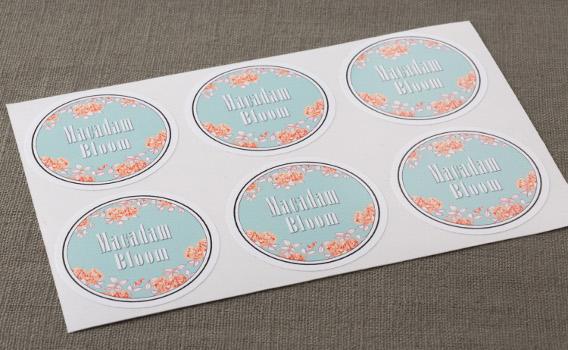 Stickers numériques ronds en planche