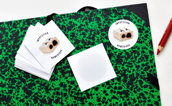 Stickers ronds découpés à l'unité en impression numérique