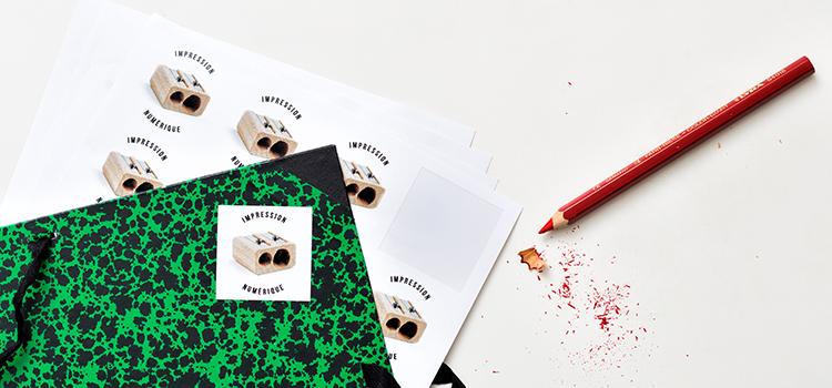 stickers en planche format carré