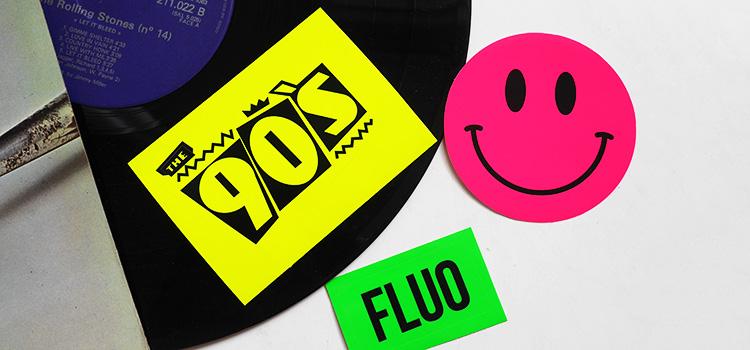 Stickers fluo de toutes les formes