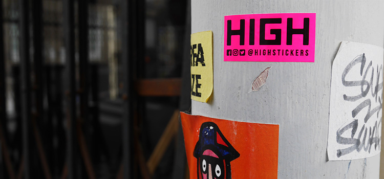 stickers fluo rose flashy