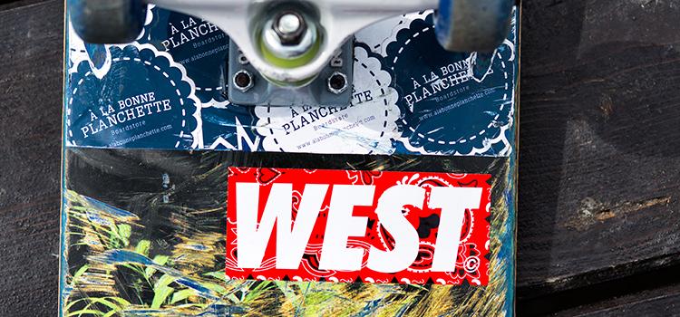 Stickers West en sérigraphie Noir & Rouge