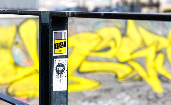 High stickers sérigraphie NOIR et JAUNE