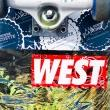 Stickers West Boardstore en sérigraphie NOIR + ROUGE